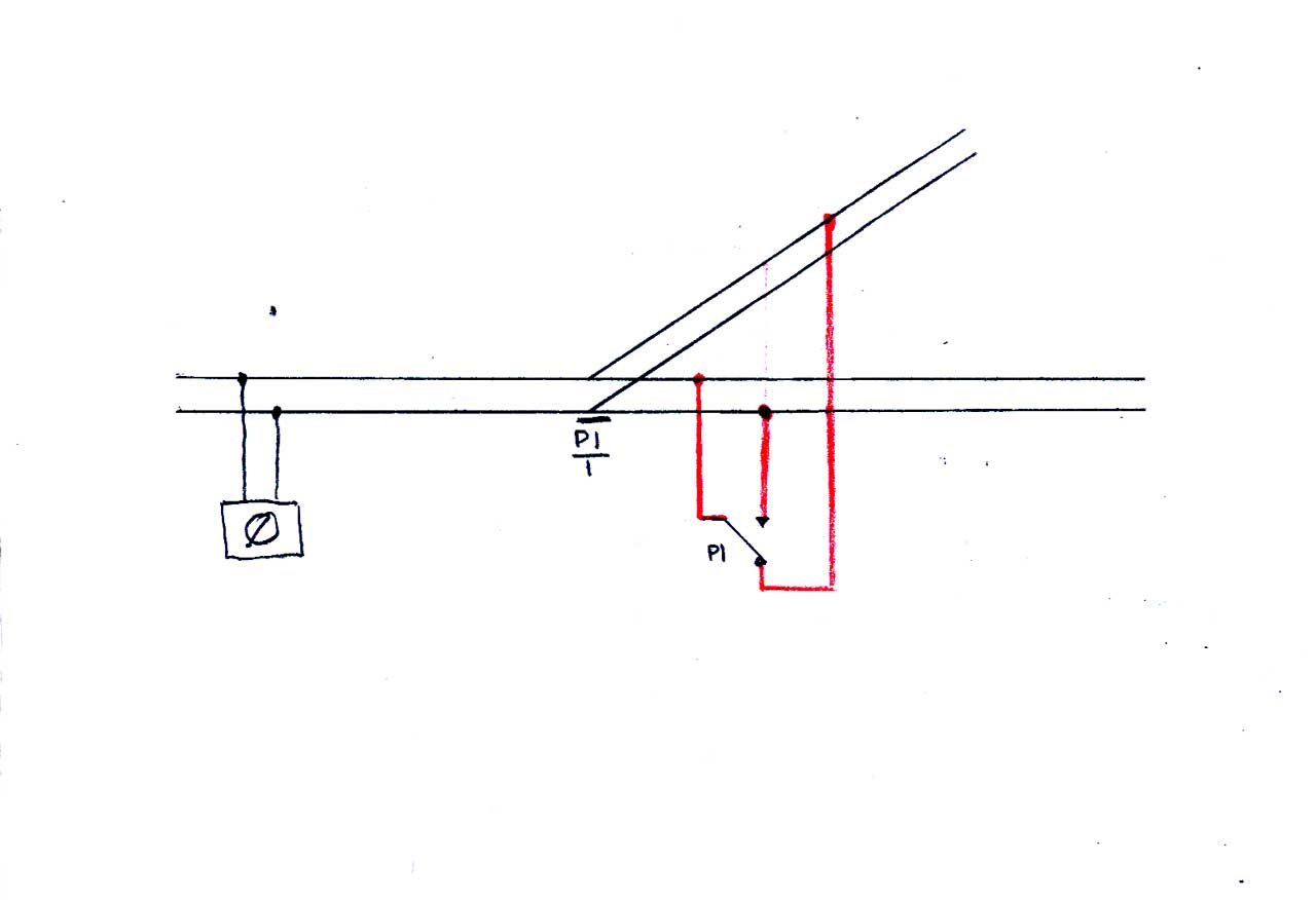 Basic Simple Electrics For Model Railways Double Switch Wiring Diagram Dc The Point And Change Over Are Shown In Straight On Position As Usual Is Easier To Follow Than Text