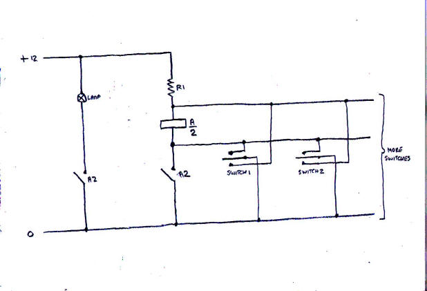 basic simple electrics for model railways when the switch is operated the other way this applies a short circuit across the relay coil causing the relay to release and disconnect the lamp simples